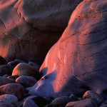 side lit rocks ns